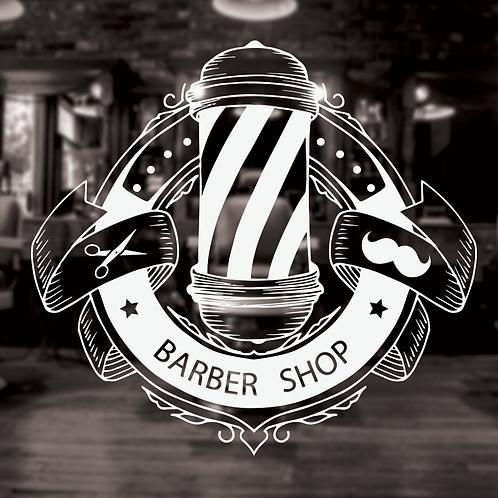 Barbershop Vinyl Window Stickers