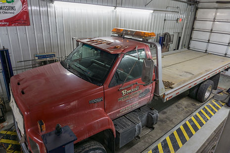 Bonnell Repair and Towing flatbed tow truck in Rock Falls, Illinois