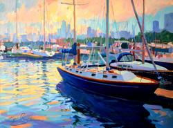 Chicago Harbor - Oil