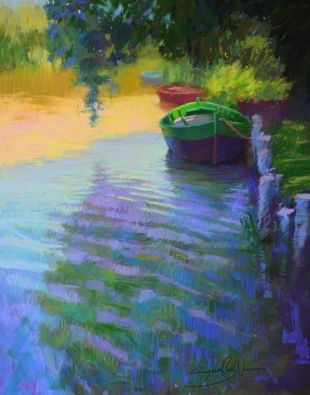 Barcas En El Palmar - Pastel