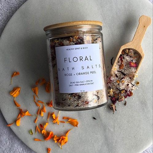 Orange Peel & Rose Floral Bath Salts