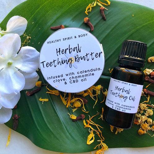 Herbal Teething Butter & Teething Oil Duo Pack