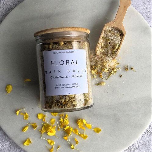 Soothing Chamomile & Jasmine Floral Bath Salts