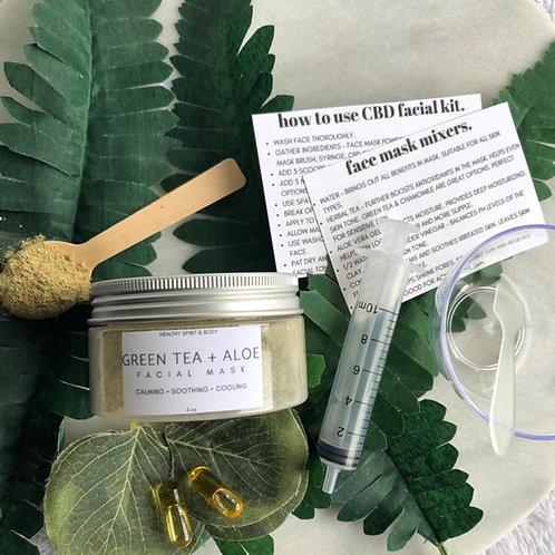 Green Tea + Aloe Face Mask Kit