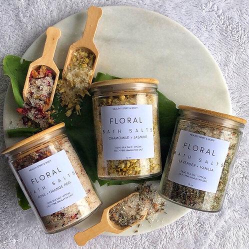 Floral Bath Salts Trio