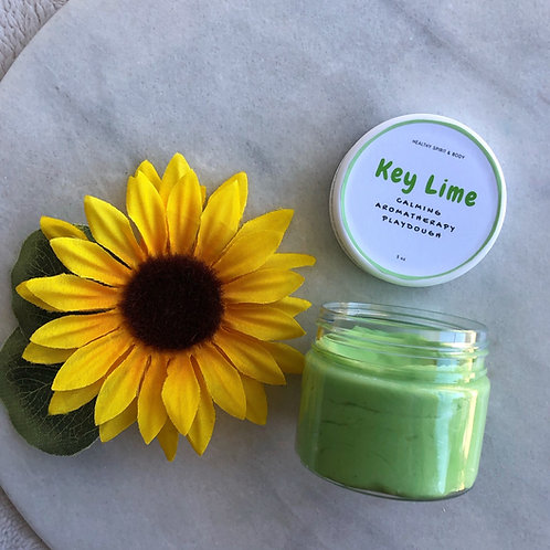 Relaxing Aromatherapy Play Dough - Key Lime