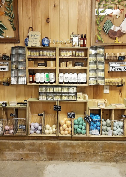 Handmade products, natural soap, lotions, lip balms, bath bombs, honey products, natural products