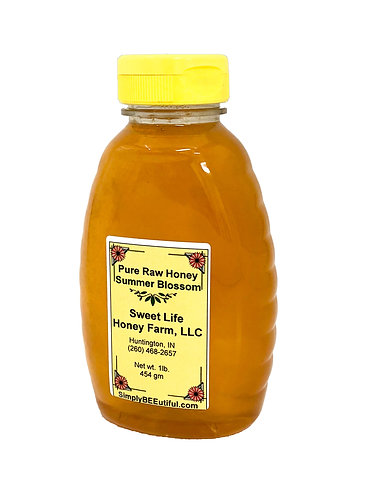 One Pound Pure Raw Honey