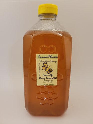 Five Pounds Pure Raw Honey