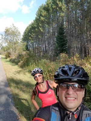 Vélo au Petit Train du Nord                (Nominingue à Mont-Laurier aller- retour) 110 Km