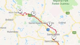 Vélo au Petit Train du Nord                (Saint-Jérôme à Mont-Tremblant aller- retour) 160 Km