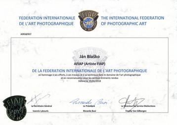 "The distinction ""Artiste FIAP"" (AFIAP)"