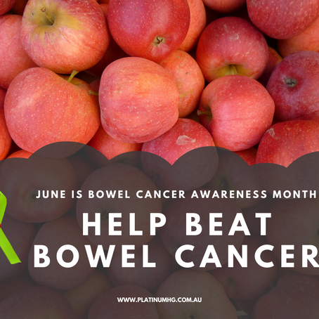 June is Bowel Cancer Awareness Month.