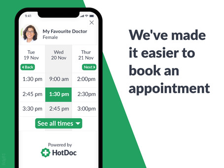 Exciting News - Platinum Health Group is now using Hotdoc