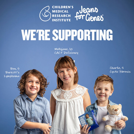 WE'RE SUPPORTING JEANS FOR GENES
