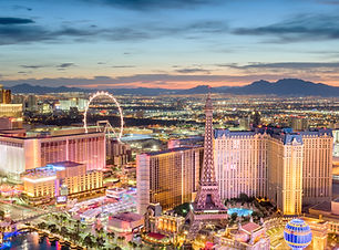 Las Vegas, Nevada, USA skyline over the strip at dusk..jpg