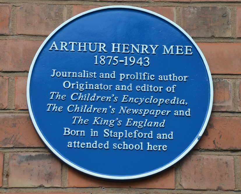 Arthur Mee plaque unveiling March 20