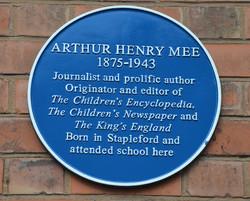 Arthur Mee plaque unveiling March 20