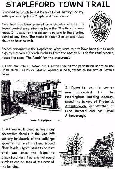 Stapleford Town Trail Leaflet