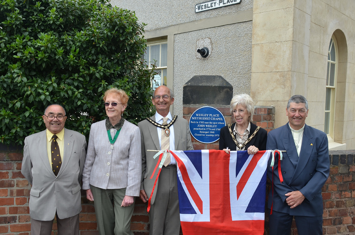Wesley Place plaque unveiling June 2