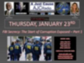 AJCRadio Upcoming Show - FBI Secrecy - T