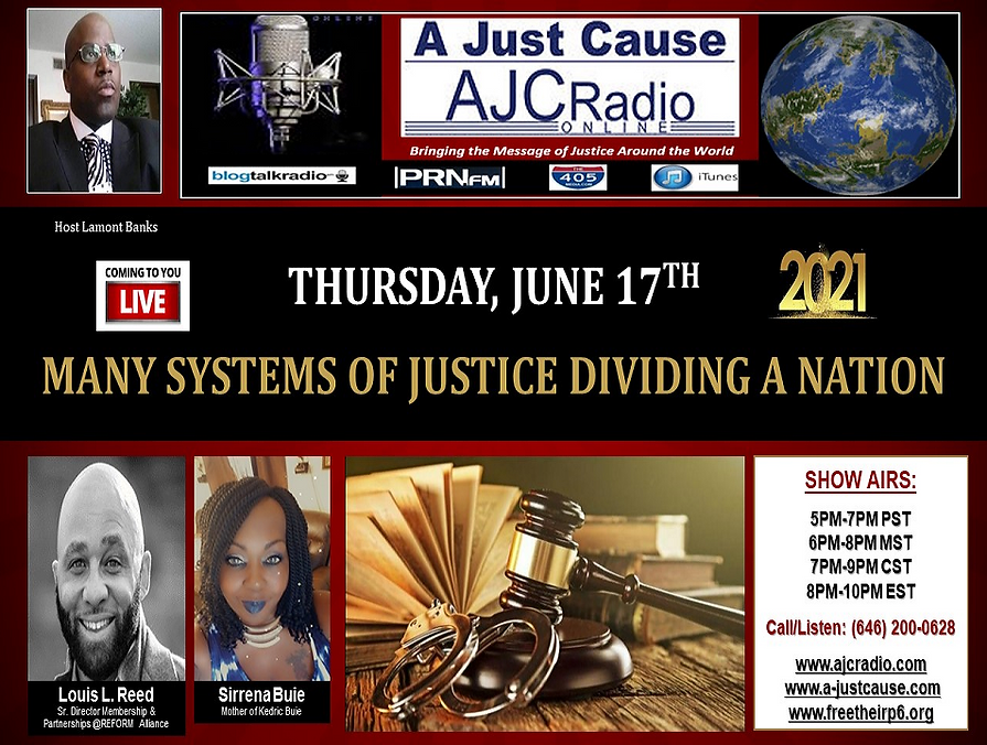 AJCRadio - Live Presentation Show - Many Systems of Justice Dividing a Nation 06172021.png