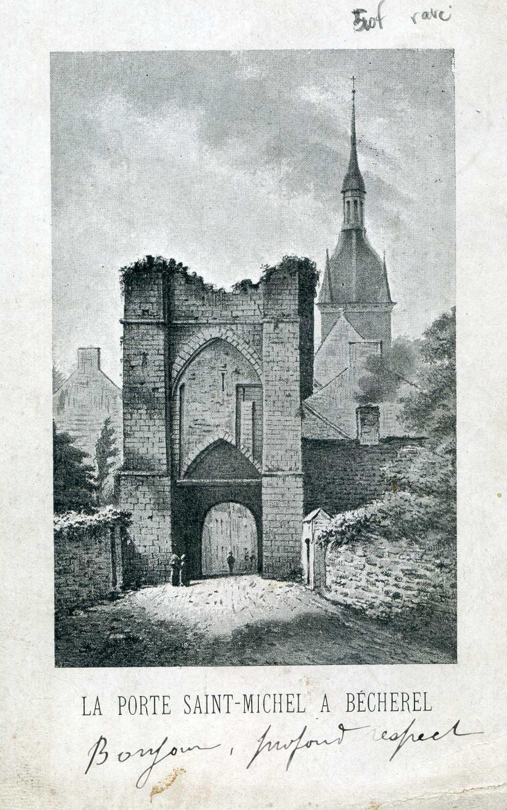 dessin de la porte St Michel, (3)