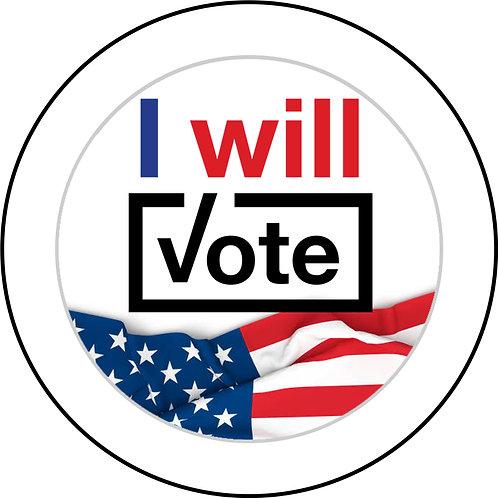 I Will Vote Button