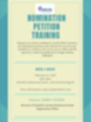 FINAL Nomination Training Training Flyer