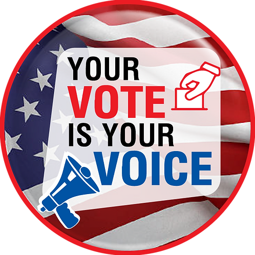 Your Vote is Your Voice Button