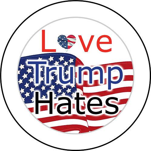Love Trump Hates Button