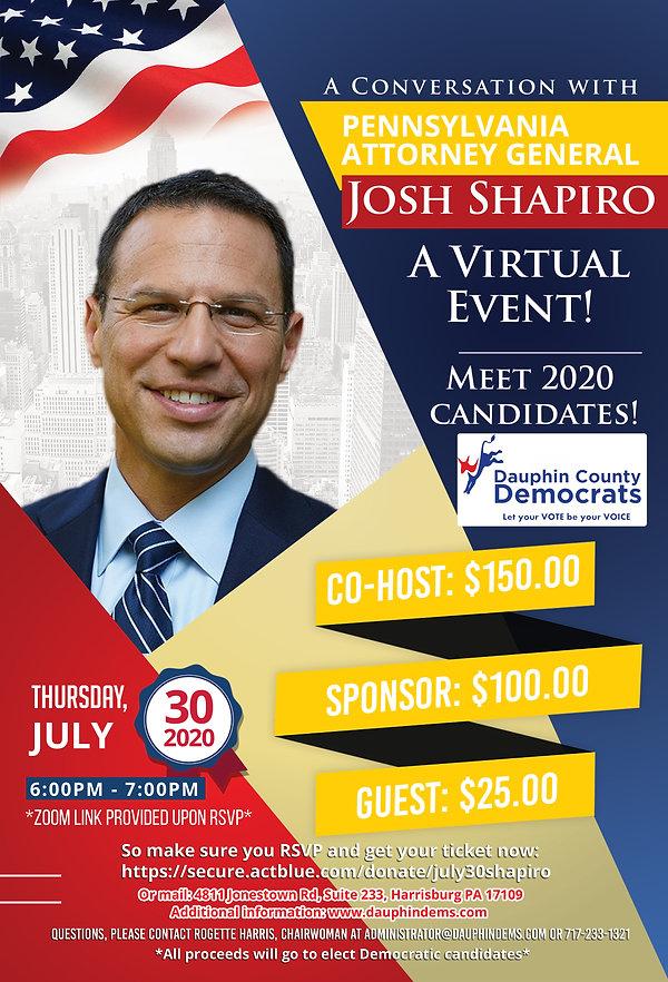 Final Flyer - July 30th Shapiro Event.jp