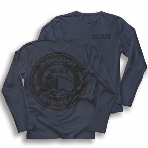 blue globrewco shirt