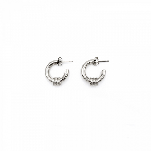 JUSTINE CLENQUET Carrie Palladium Earring
