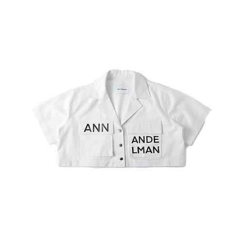 ANN ANDELMAN White Cropped Shirt