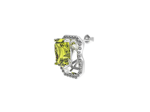 51 E JOHN Constraint Collection Distorted Diamond Single Earring