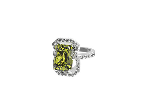 51 E JOHN Constraint Collection Distorted Diamond Ring