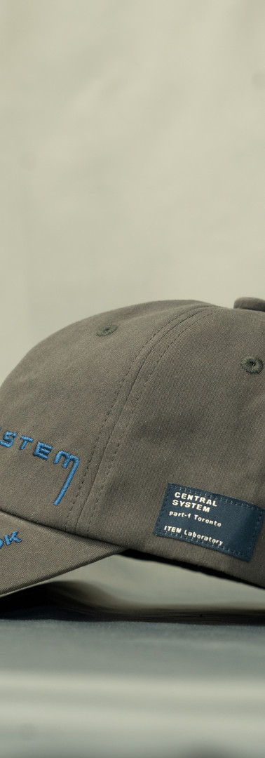 CENTRAL SYSTEM / TWILL CAP / GREY