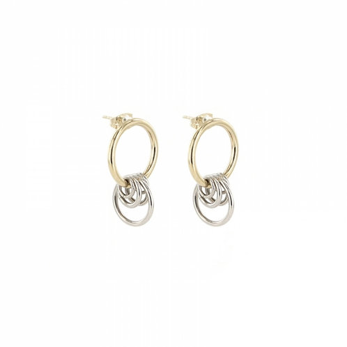 JUSTINE CLENQUET Ava Earrings - Palladium and Pale gold