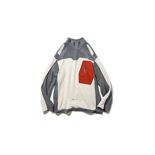 "UMAMIISM ""Free Market"" Pocket Contrast Sweatshirt"