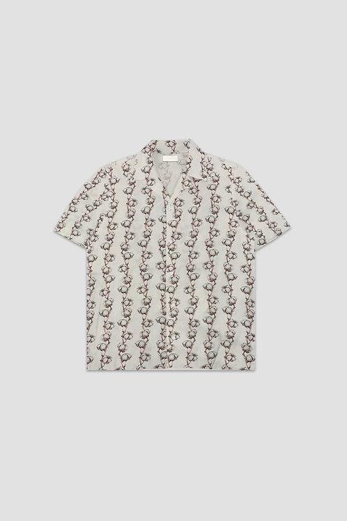 FLANEUR HOME White Cotton Flower Print Shirt