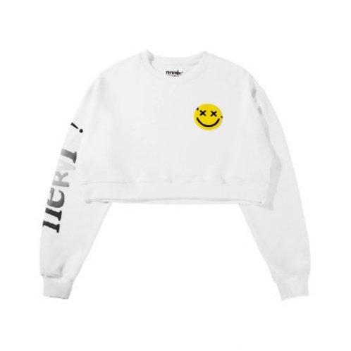 MAYHEM Nervis Puffprint Cropped Sweater