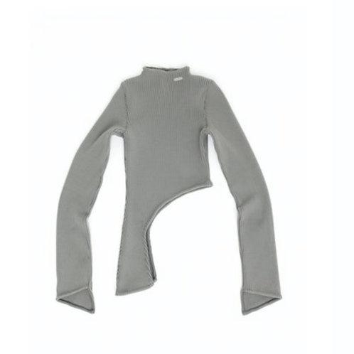 HELIOT EMIL Assymetric Hem Heavy Rib Knit