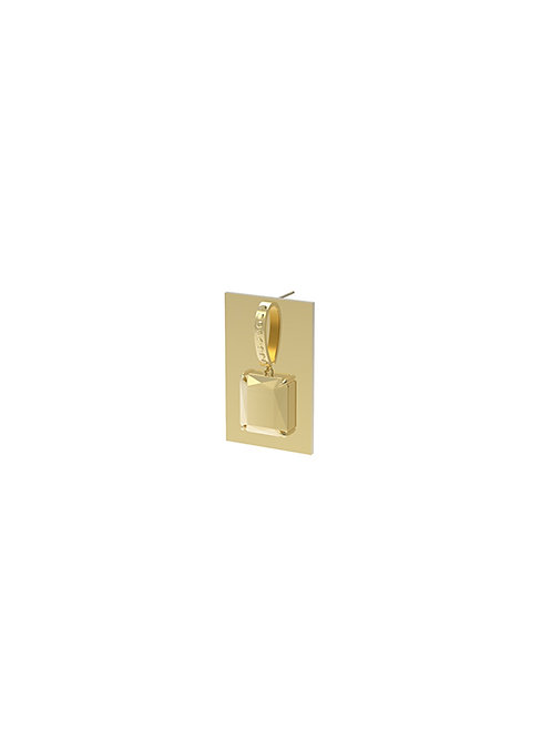 51 E JOHN Vaccum Collection Embossing Diamond Earring 061