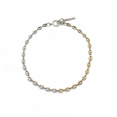 JUSTINE CLENQUET Joy Necklace - Palladium and Pale Gold