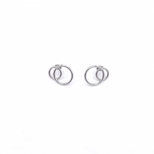 JUSTINE CLENQUET Gale palladium earring
