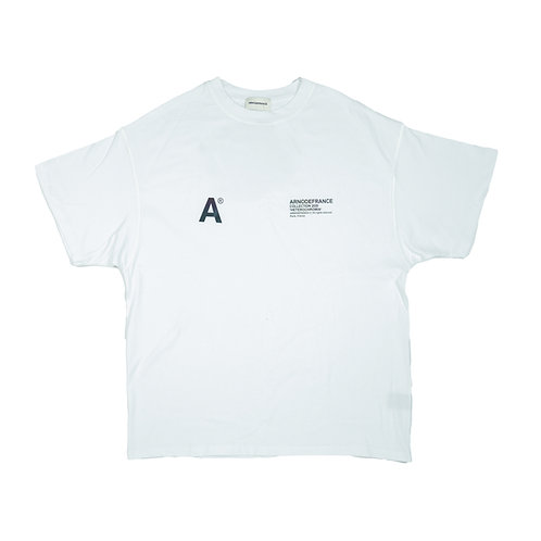 ARNODEFRANCE Inside Out T Shirt White 3M
