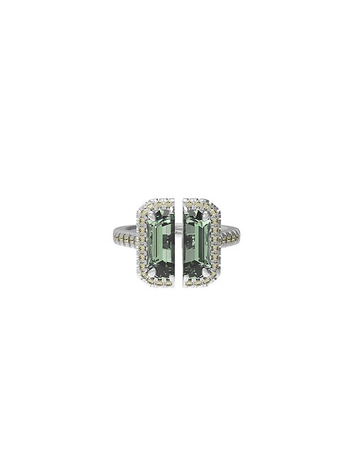 51 E JOHN Deconstruction Collection Bisected Ring 028