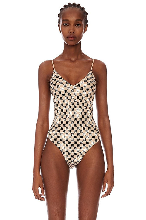 MISBHV Swim Monogram One Piece Swimsuit