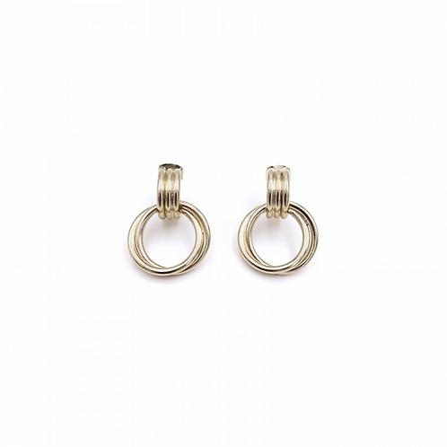 JUSTINE CLENQUET Tatum gold earring